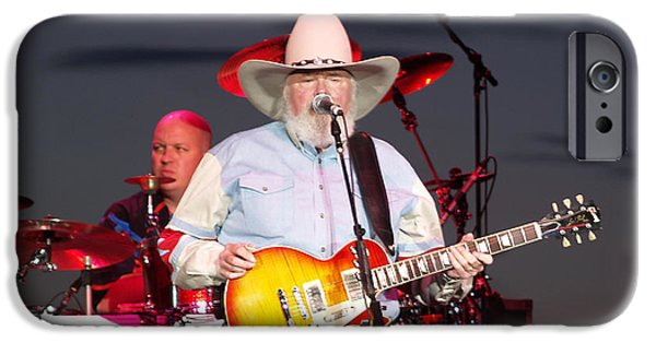 Bill Gallagher iPhone Cases - Charlie Daniels iPhone Case by Bill Gallagher