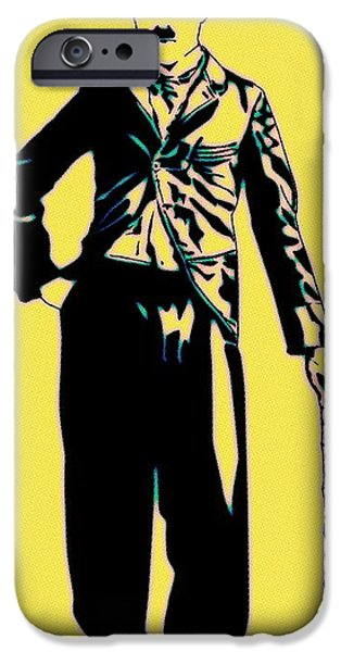 Charlie Chaplin iPhone Cases - Charlie Forever iPhone Case by Florian Rodarte