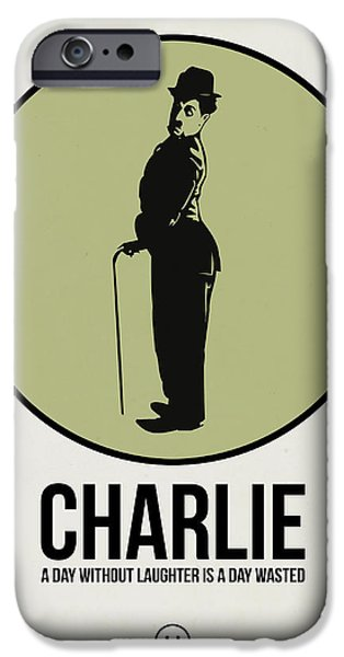 Film Mixed Media iPhone Cases - Charlie Poster 1 iPhone Case by Naxart Studio