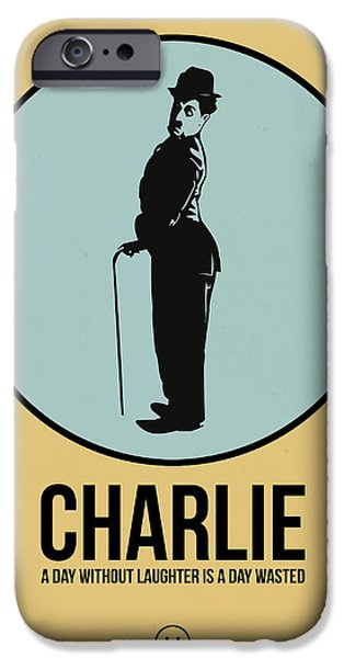 Film Mixed Media iPhone Cases - Charlie Poster 2 iPhone Case by Naxart Studio
