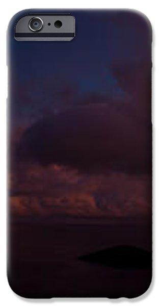 Charlotte Amalie Dusk Panorama iPhone Case by Jared Shomo