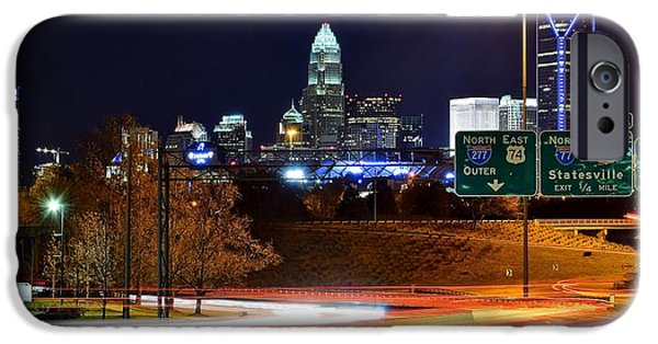 Charlotte iPhone Cases - Charlotte at Night iPhone Case by Frozen in Time Fine Art Photography