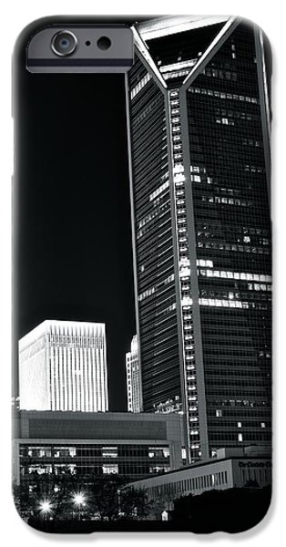 Charlotte iPhone Cases - Charlotte Black and White Night iPhone Case by Frozen in Time Fine Art Photography