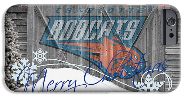 Bobcats iPhone Cases - Charlotte Bobcats iPhone Case by Joe Hamilton