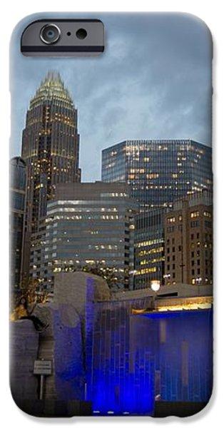 Charlotte City Lights iPhone Case by Serge Skiba