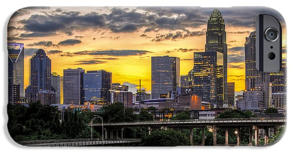 Storm Photographs iPhone Cases - Charlotte Dusk iPhone Case by Chris Austin
