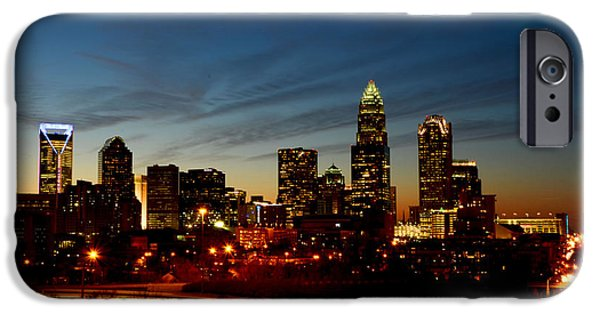 Charlotte iPhone Cases - Charlotte Dusk Lights iPhone Case by Paul Scolieri