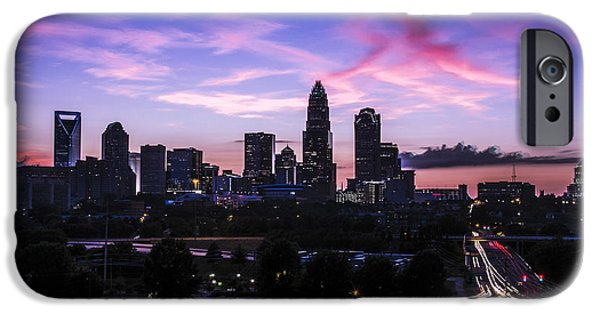 Charlotte iPhone Cases - Charlotte Dusk Time Lapse iPhone Case by Paul Scolieri