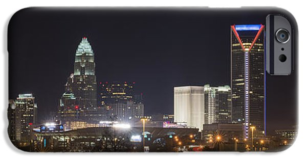 Clt iPhone Cases - Charlotte Game Night iPhone Case by Brian Young