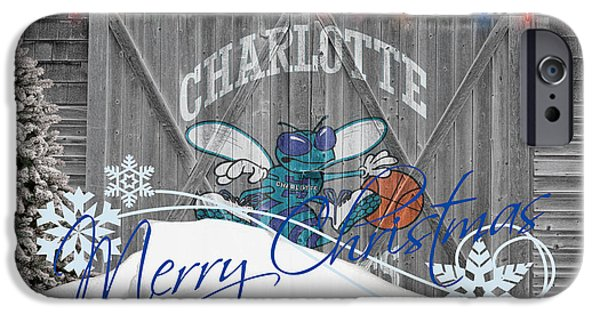 Nba iPhone Cases - Charlotte Hornets iPhone Case by Joe Hamilton