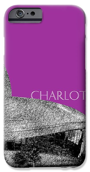 Charlotte Digital Art iPhone Cases - Charlotte Nascar Hall of Fame - Plum North Carolina iPhone Case by DB Artist