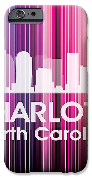 Charlotte NC 2 iPhone Case by Angelina Vick