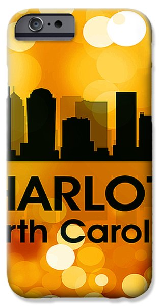 Charlotte NC 3 iPhone Case by Angelina Vick