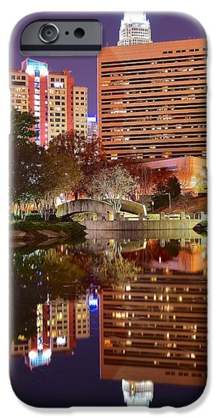 Charlotte iPhone Cases - Charlotte Night Reflection iPhone Case by Frozen in Time Fine Art Photography