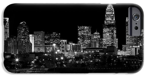 Uptown Charlotte iPhone Cases - Charlotte Night v2 iPhone Case by Chris Austin