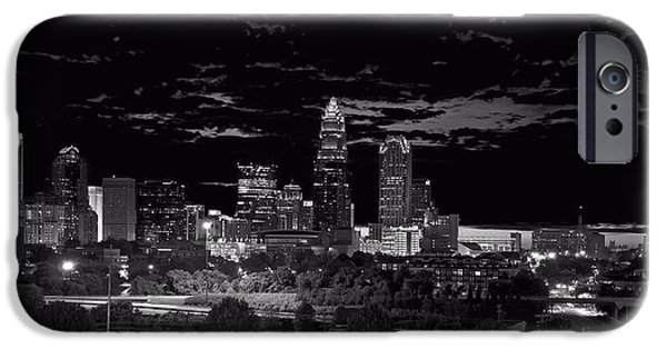 Charlotte iPhone Cases - Charlotte North Carolina iPhone Case by Chris Flees
