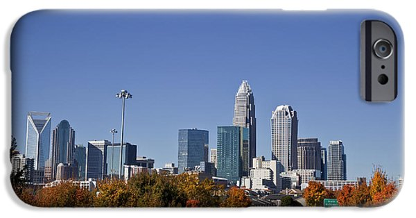 Business iPhone Cases - Charlotte North Carolina iPhone Case by Jill Lang