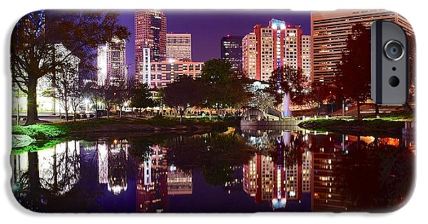 Charlotte iPhone Cases - Charlotte Panoramic Reflection iPhone Case by Frozen in Time Fine Art Photography