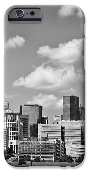 Charlotte Skyline in Black and White iPhone Case by Jill Lang