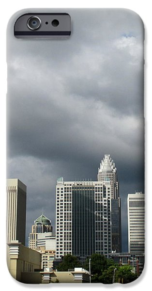 Charlotte Skyline iPhone Case by Randall Weidner