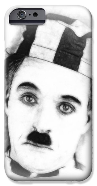 Charly iPhone Cases - Charly Chaplin iPhone Case by Stefan Kuhn
