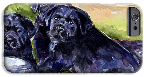 Black Dog iPhone Cases - Charm School iPhone Case by Molly Poole