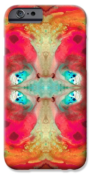 Wicca iPhone Cases - Charmed - Abstract Art by Sharon Cummings iPhone Case by Sharon Cummings