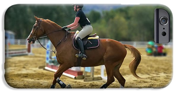 Equestrian Center iPhone Cases - Charming Daughers First Equestrian Competition iPhone Case by Kevin Garrett