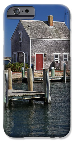 Recently Sold -  - Shed iPhone Cases - Charming Edgartown Harbor  iPhone Case by Juergen Roth