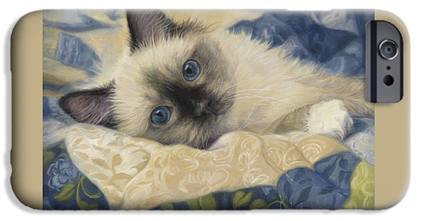 Feline iPhone Cases - Charming iPhone Case by Lucie Bilodeau