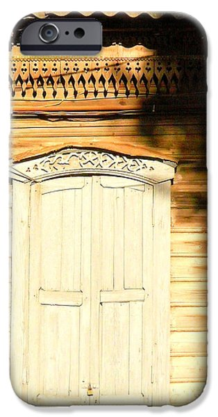 House Pyrography iPhone Cases - Charming Olden Time iPhone Case by Inna Podolska
