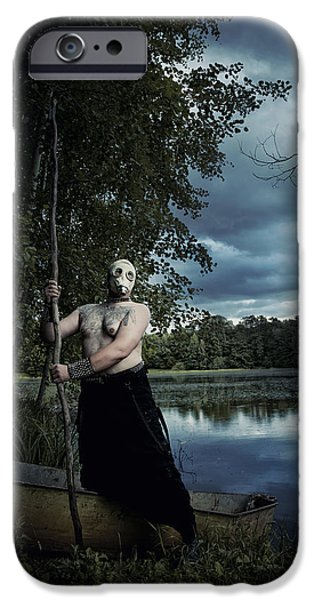 Creepy iPhone Cases - Charon iPhone Case by Joanna Jankowska