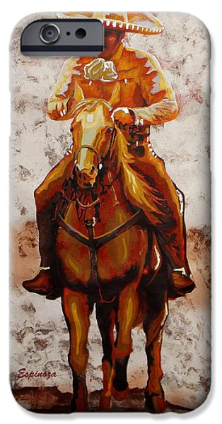 Unique Drawings iPhone Cases - Charro iPhone Case by Jose Espinoza