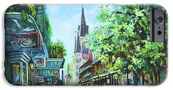 French Quarter Paintings iPhone Cases - Chartres Afternoon iPhone Case by Dianne Parks
