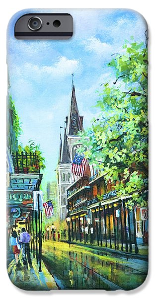 People iPhone Cases - Chartres Afternoon iPhone Case by Dianne Parks