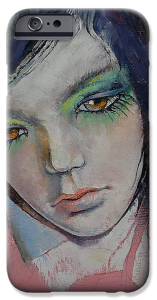 Manga iPhone Cases - Chartreuse iPhone Case by Michael Creese