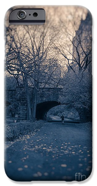 Eerie iPhone Cases - Chased Through Central Park iPhone Case by Edward Fielding