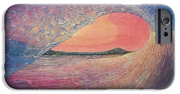 Ocean Reliefs iPhone Cases - Chasing Daylight iPhone Case by Nathan Ledyard