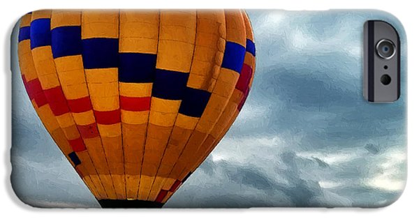Hot Air Balloon iPhone Cases - Chasing Hot Air Balloons iPhone Case by Glenn McCarthy Art and Photography