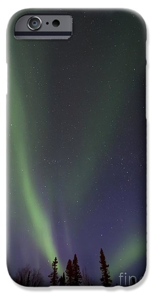 Northern Lights iPhone Cases - Chasing Lights iPhone Case by Priska Wettstein