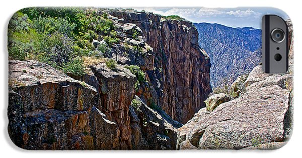Warner Park iPhone Cases - Chasm near Beginning of Warner Point Trail in Black Canyon of the Gunnison National Park-Colorado iPhone Case by Ruth Hager