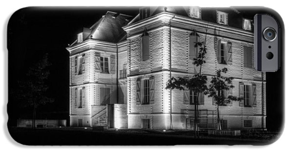 Night Lamp iPhone Cases - Chateau de Capdeville iPhone Case by Erik Brede