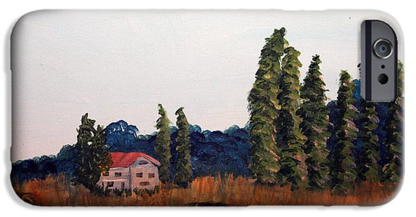 Haybales Paintings iPhone Cases - Chateau Deauville iPhone Case by Maura Satchell