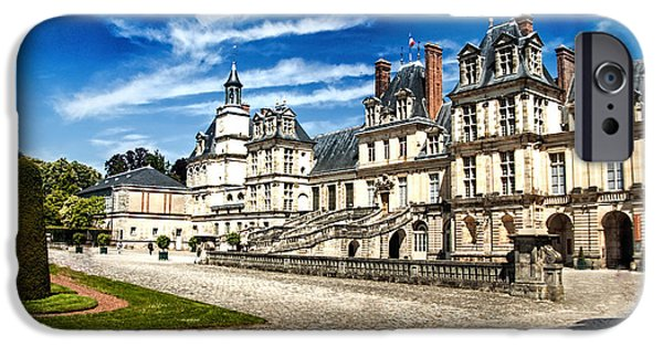 Pope iPhone Cases - Chateau Fontainebleau - France iPhone Case by Jon Berghoff