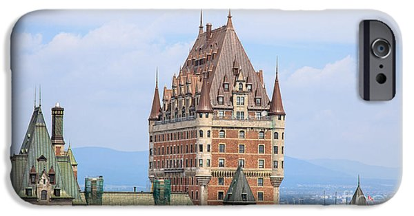 Province iPhone Cases - Chateau Frontenac Quebec City Canada iPhone Case by Edward Fielding