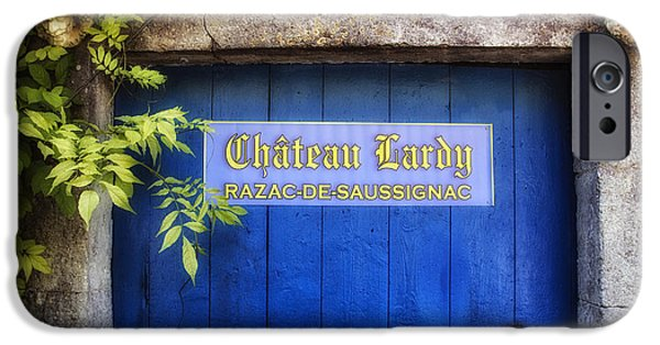 French Doors iPhone Cases - Chateau Lardy iPhone Case by Georgia Fowler