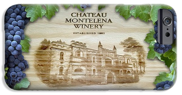 Chateau iPhone Cases - Chateau Montelena iPhone Case by Jon Neidert