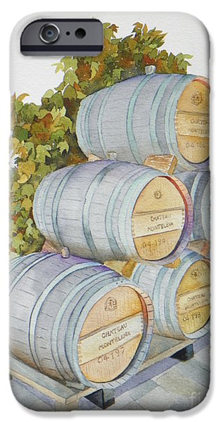 Recently Sold -  - Wine Bottles iPhone Cases - Chateau Montelena iPhone Case by Lou Ann Overman