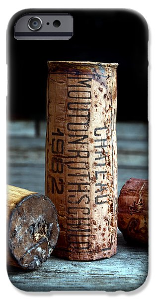 Chateau iPhone Cases - Chateau Mouton Rothschild Cork iPhone Case by Jon Neidert