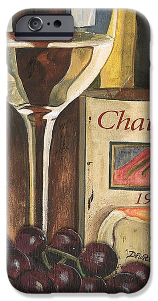 Wine Glass Paintings iPhone Cases - Chateux 1965 iPhone Case by Debbie DeWitt